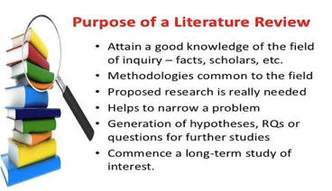 Role of Literature review